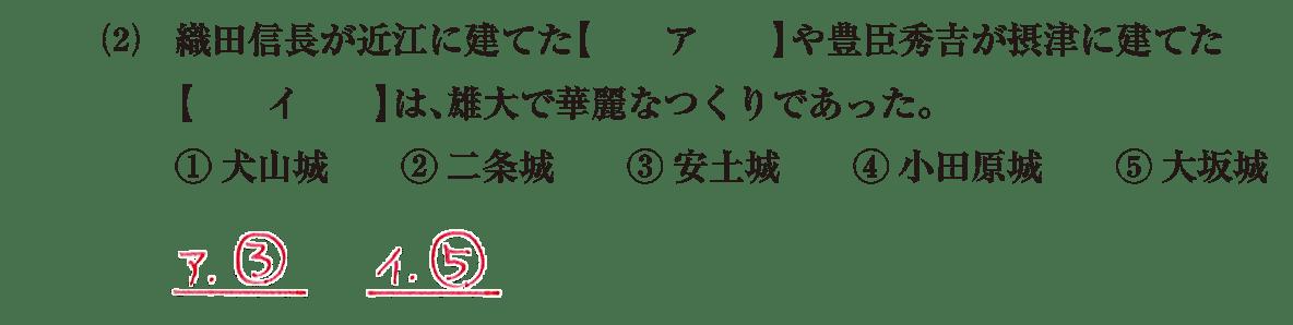 近世の文化3 問題1(2) 解答