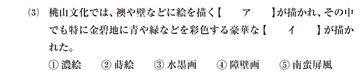 近世の文化3 問題1(3) 問題
