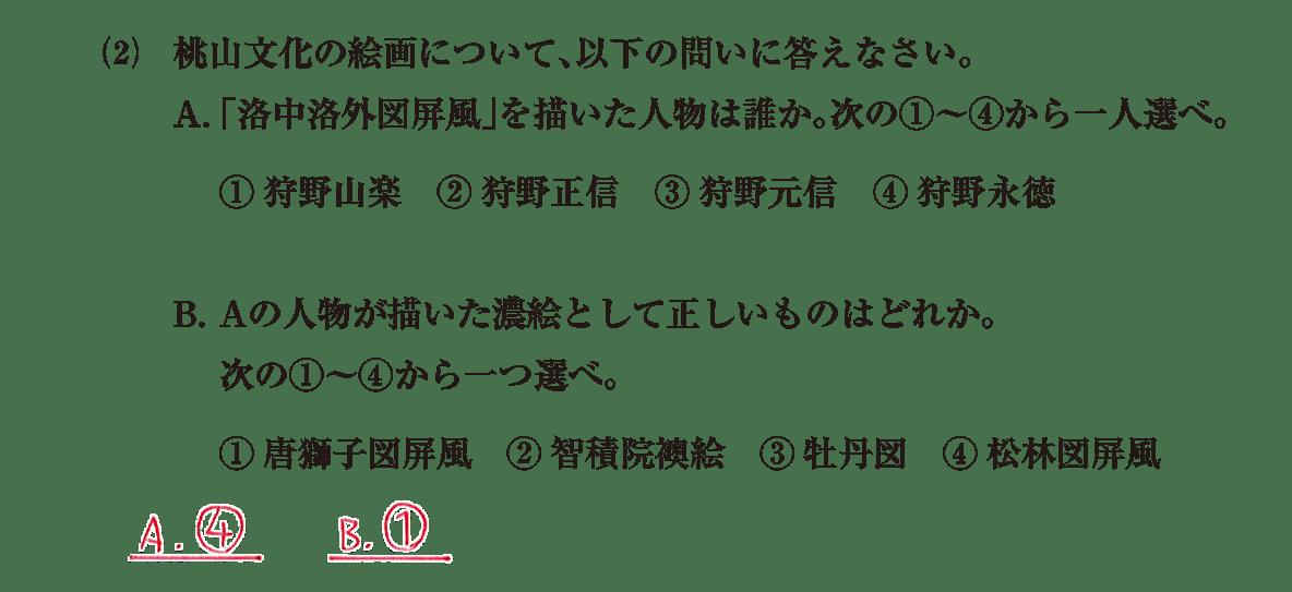 近世の文化3 問題2(2) 解答