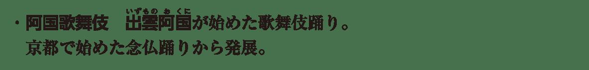 近世の文化5 ポイント2 ・阿国歌舞伎 から から発展。まで