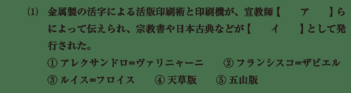 近世の文化6 問題1(1) 問題
