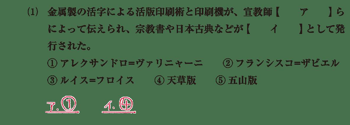 近世の文化6 問題1(1) 解答