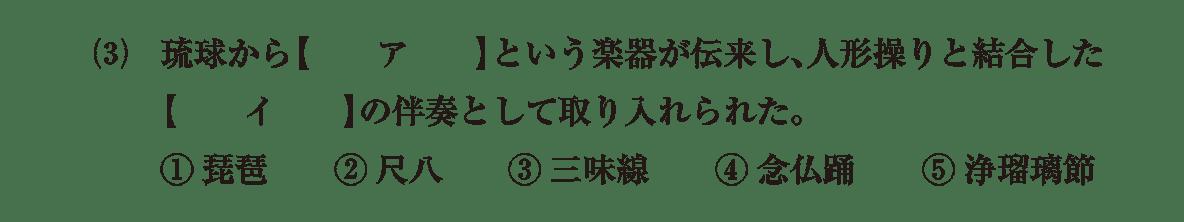 近世の文化6 問題1(3) 問題