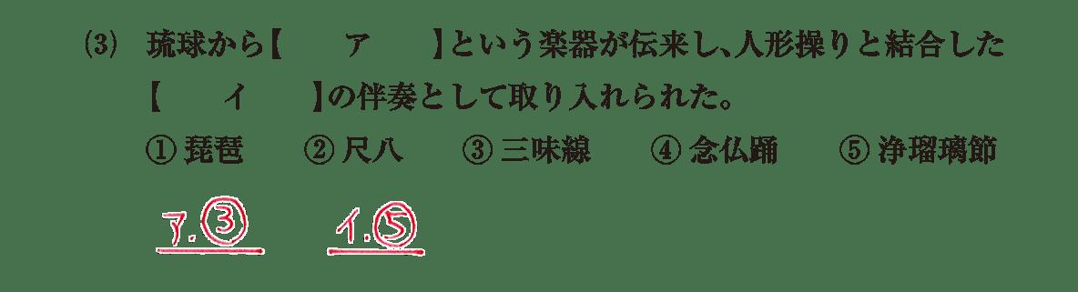近世の文化6 問題1(3) 解答