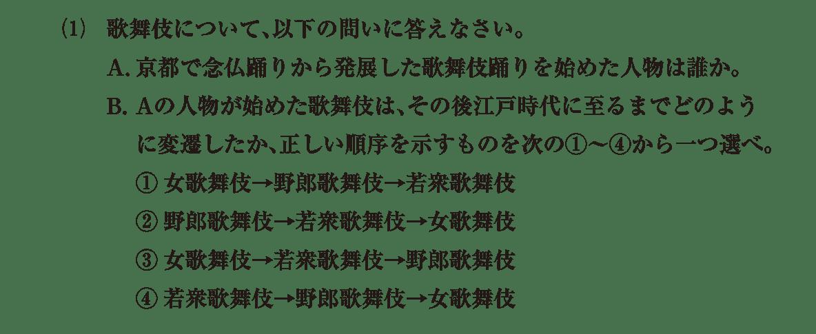 近世の文化6 問題2(1) 問題
