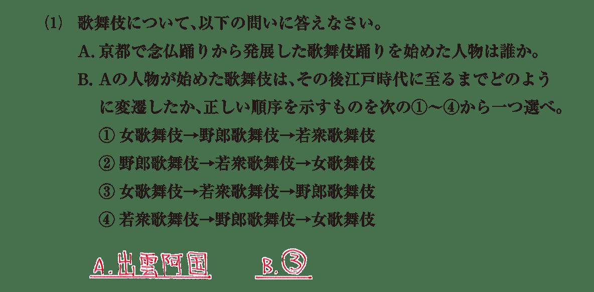 近世の文化6 問題2(1) 解答