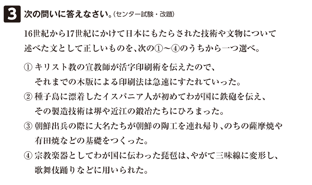 近世の文化6 問題3 問題