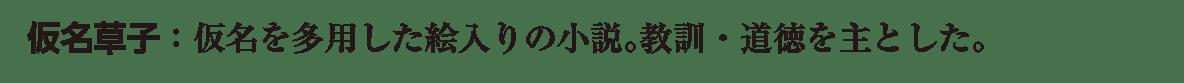 近世の文化8 ポイント2 仮名草子 道徳を主とした まで