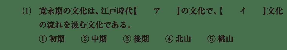近世の文化9 問題1(1) 問題