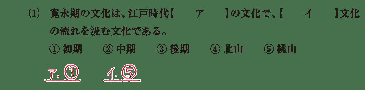 近世の文化9 問題1(1) 解答