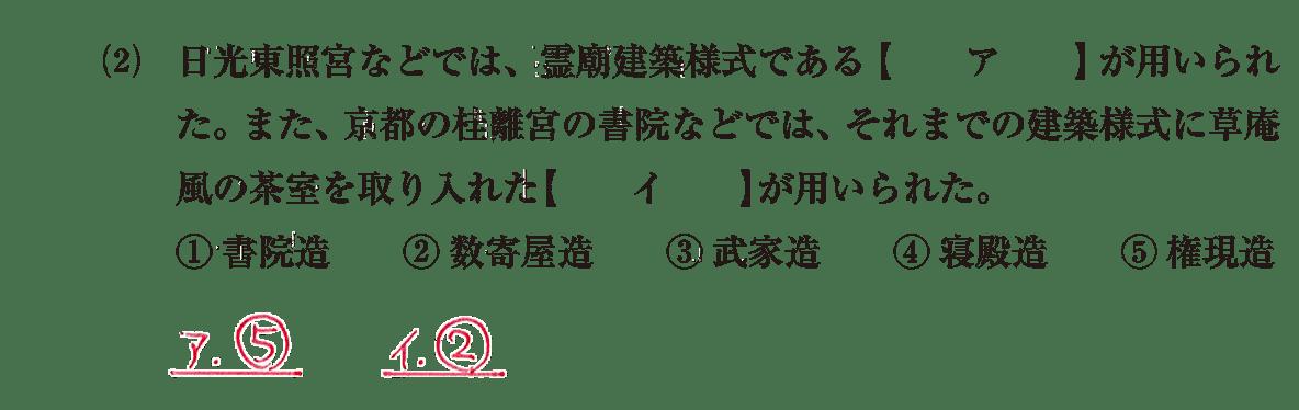 近世の文化9 問題1(2) 解答