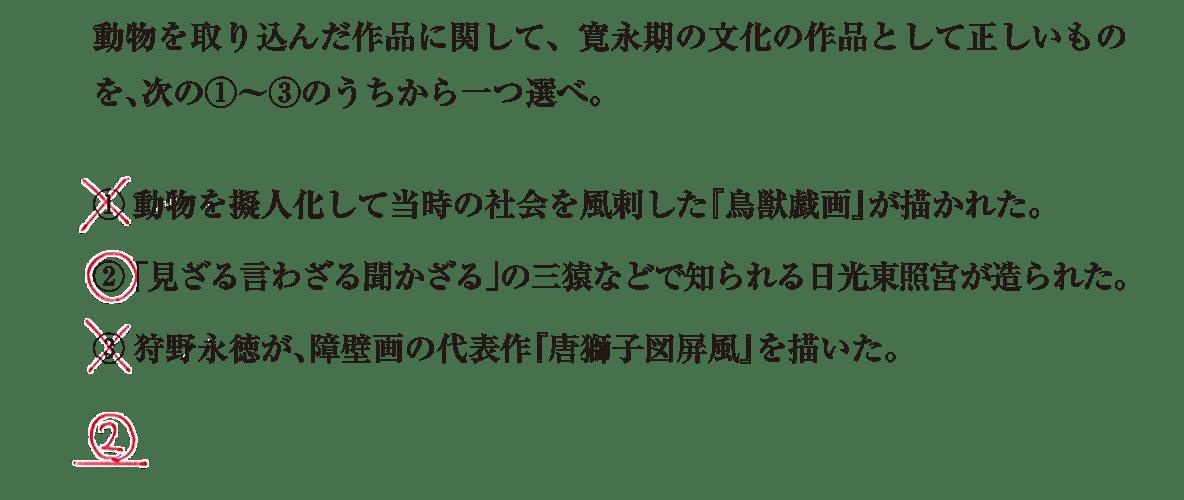 近世の文化9 問題3 解答