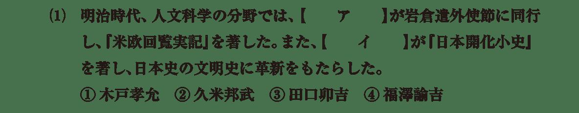 近現代の文化12 問題1(1) 問題