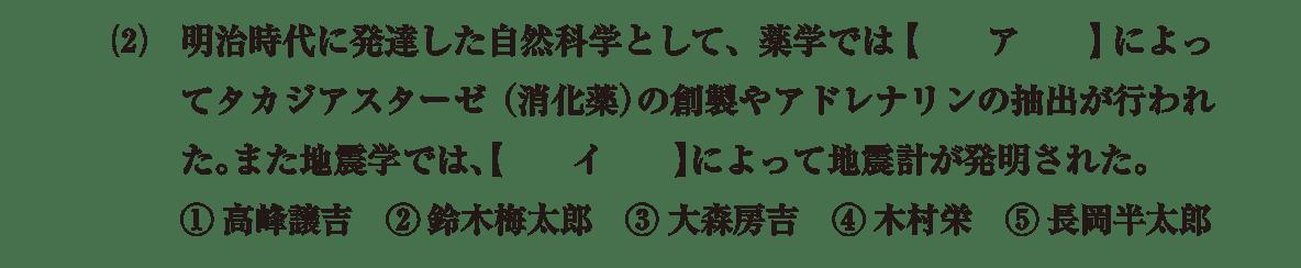 近現代の文化12 問題1(2) 問題