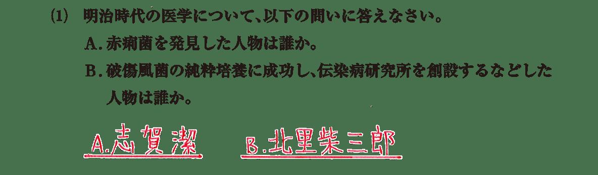 近現代の文化12 問題2(1) 解答