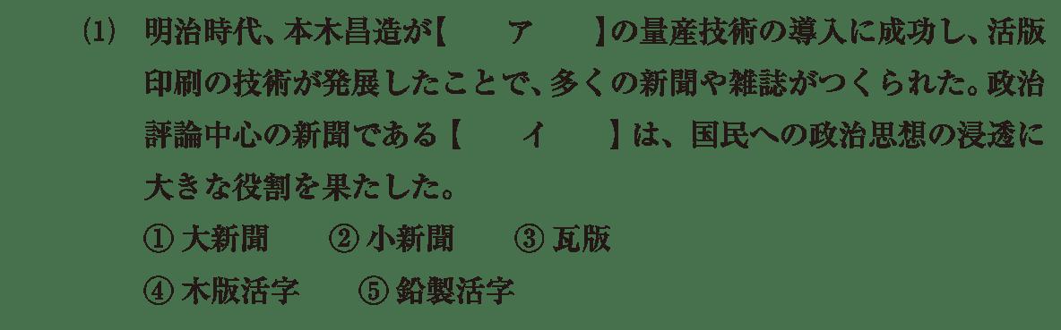 近現代の文化15 問題1(1) 問題