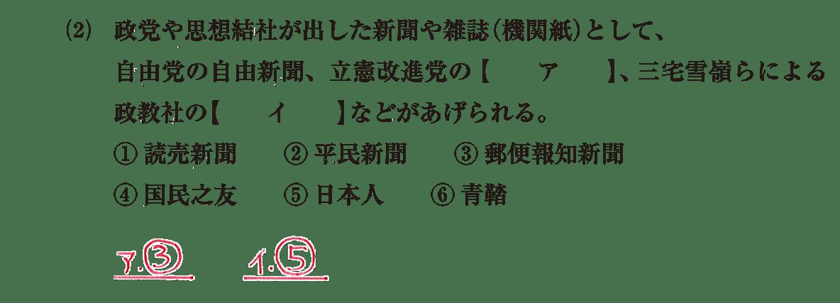 近現代の文化15 問題1(2) 解答