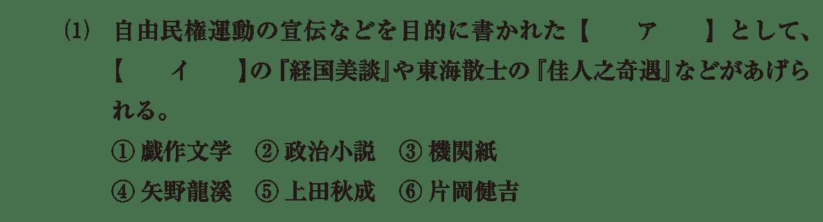 近現代の文化18 問題1(1) 問題