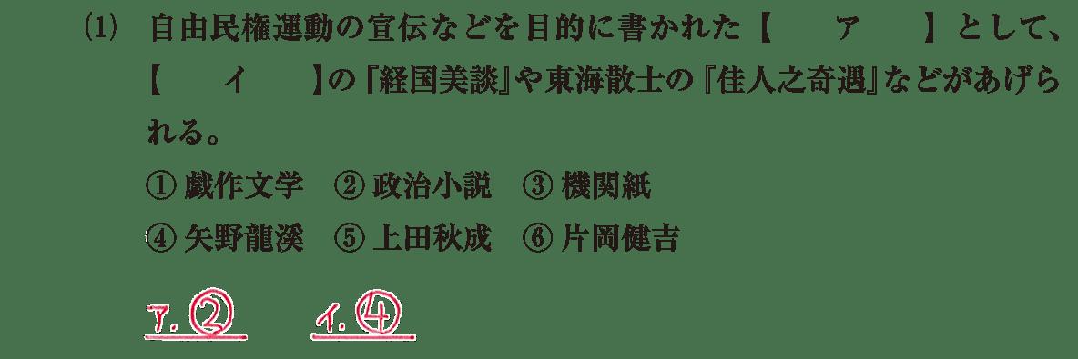 近現代の文化18 問題1(1) 解答