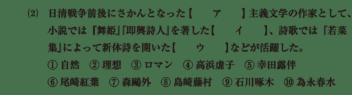 近現代の文化18 問題1(2) 問題