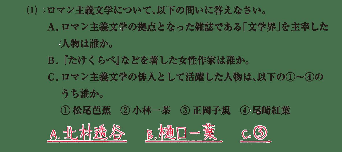 近現代の文化18 問題2(1) 解答