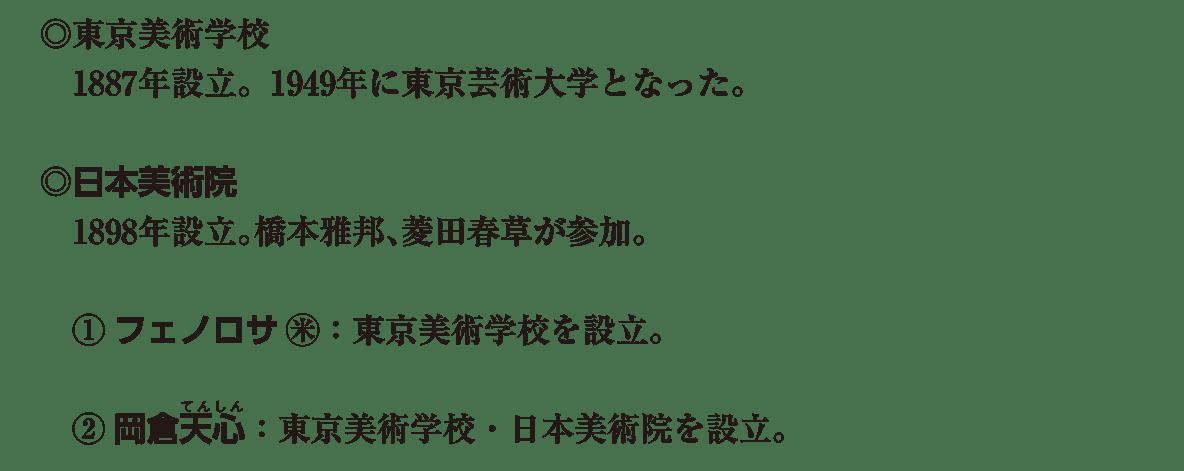 近現代の文化19 ポイント1 ◎東京美術学校 から 日本美術院を設立 まで