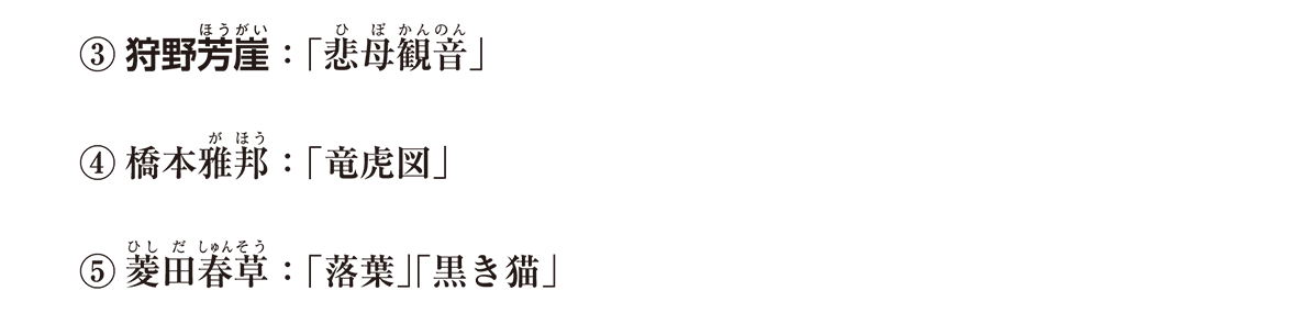 近現代の文化19 ポイント1 ①狩野芳崖 から 最後まで