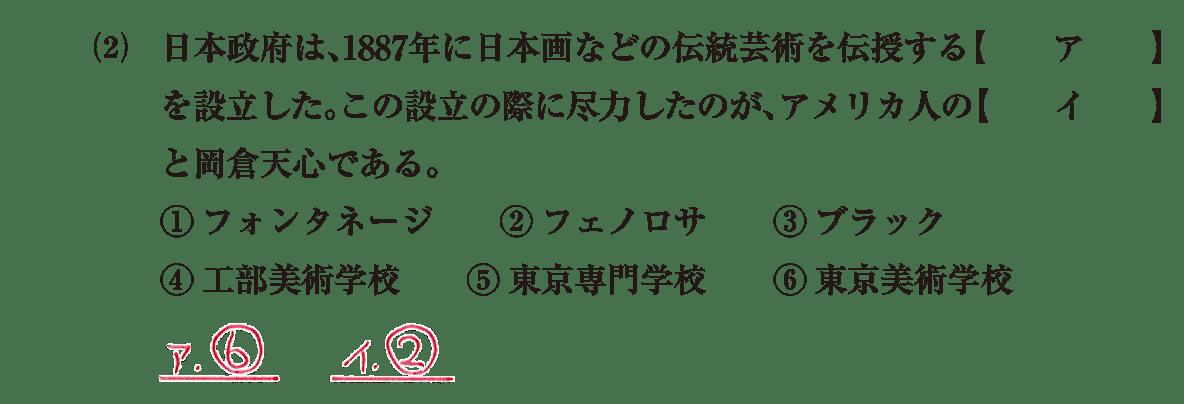 近現代の文化21 問題1(2) 解答