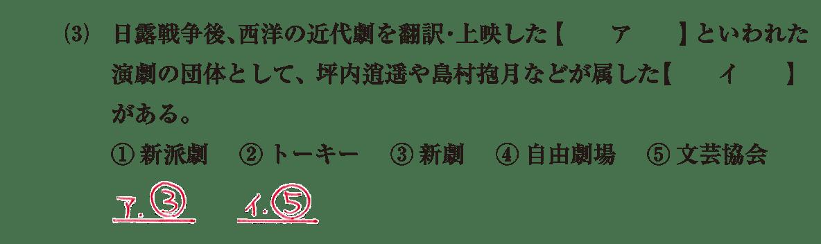 近現代の文化21 問題1(3) 解答