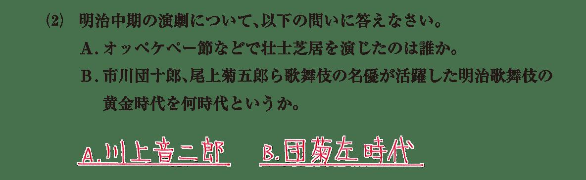 近現代の文化21 問題2(2) 解答