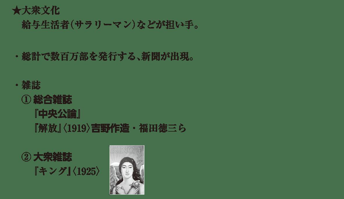 近現代の文化22 ポイント1 ★大衆文化 から 『キング』(1925)まで (画像も込み)
