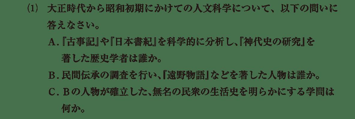 近現代の文化27 問題2(1) 問題
