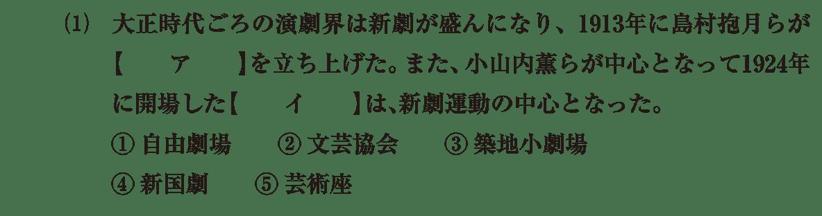 近現代の文化33 問題1(1) 問題