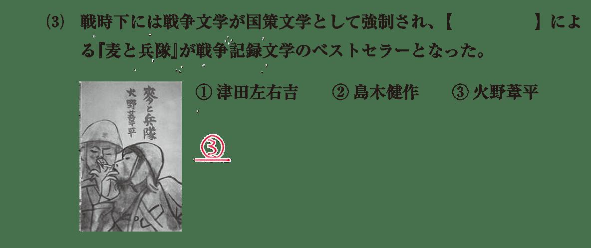 近現代の文化33 問題1(3) 解答