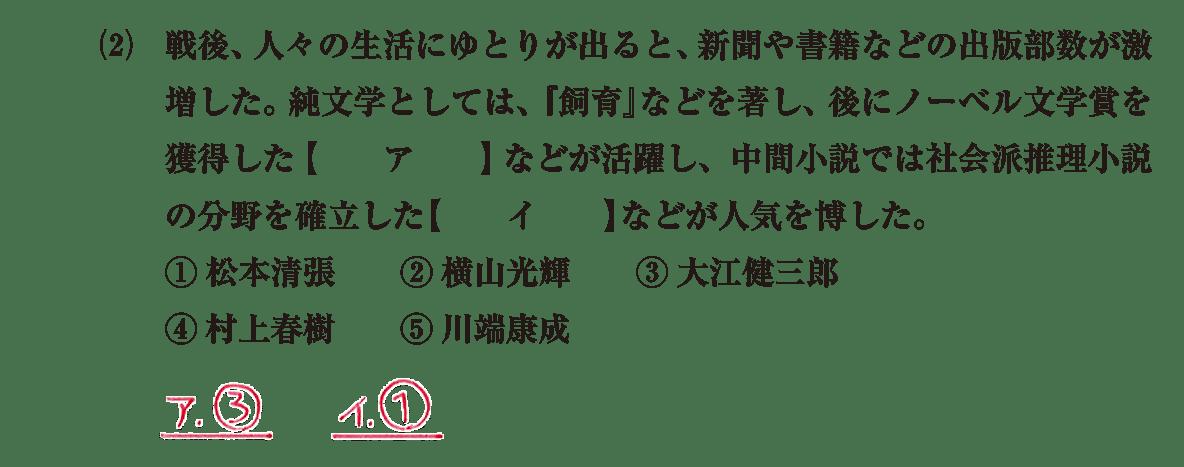近現代の文化36 問題1(2) 解答