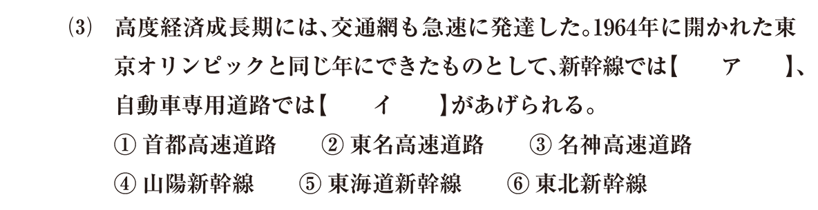 近現代の文化36 問題1(3) 問題
