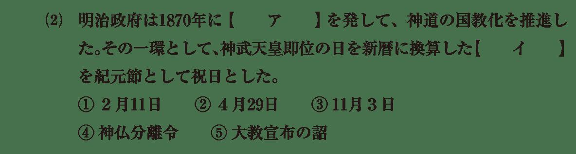 近現代の文化3 問題1(2) 問題