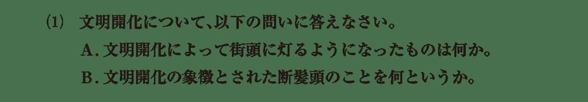 近現代の文化3 問題2(1) 問題