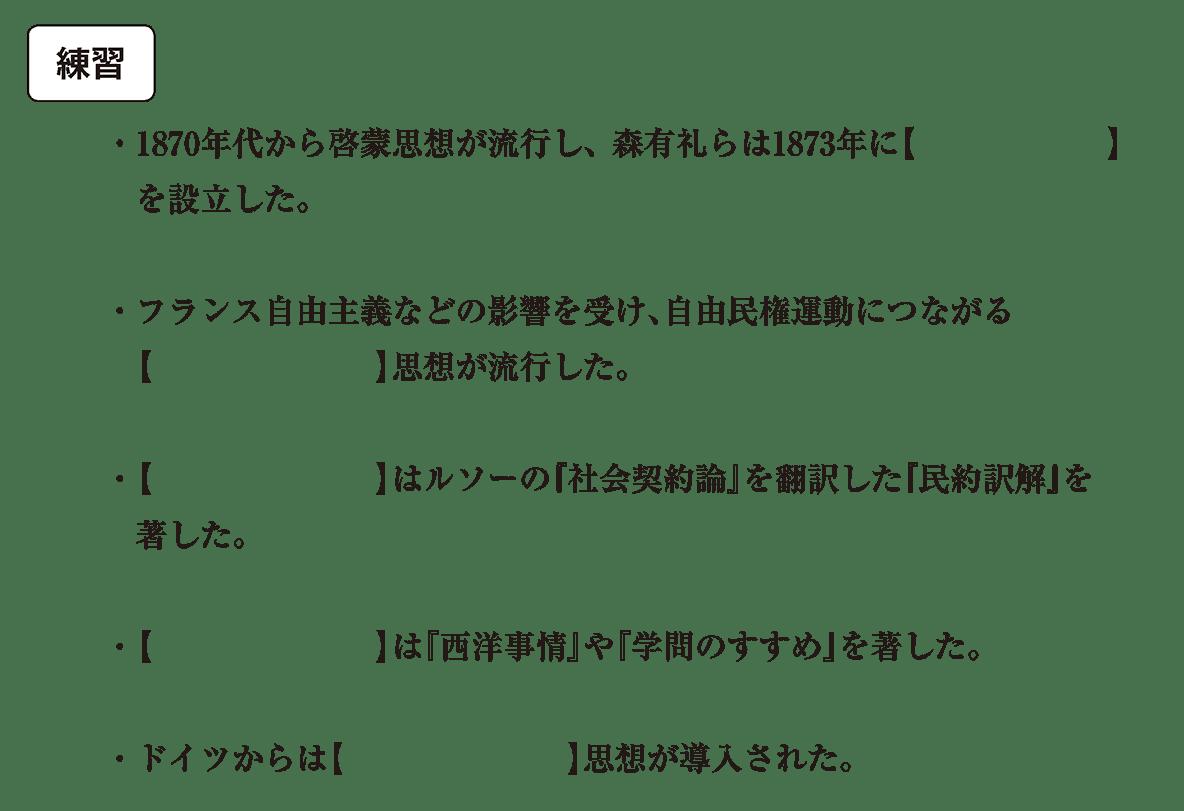 近現代の文化4 練習 空欄