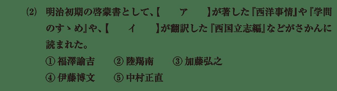 近現代の文化6 問題1(2) 問題