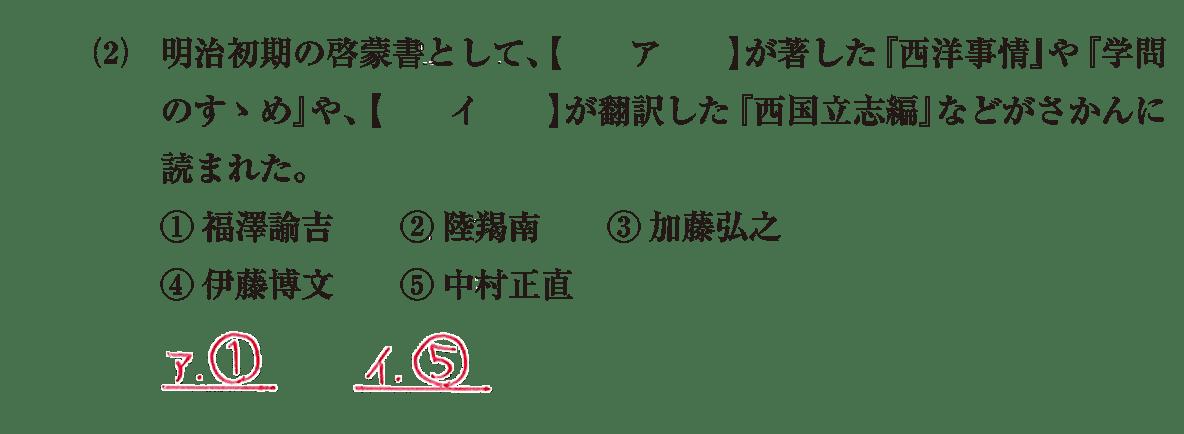 近現代の文化6 問題1(2) 解答