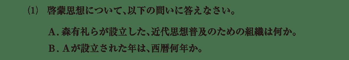近現代の文化6 問題2(1) 問題