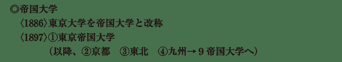 近現代の文化8 ポイント1 ◎帝国大学 から 最後まで