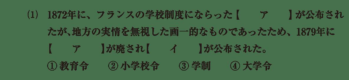 近現代の文化9 問題1(1) 問題