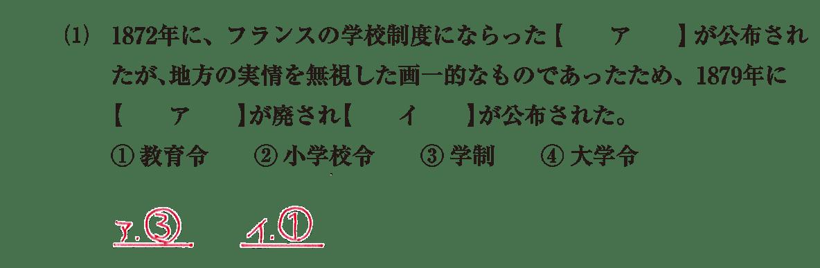 近現代の文化9 問題1(1) 解答