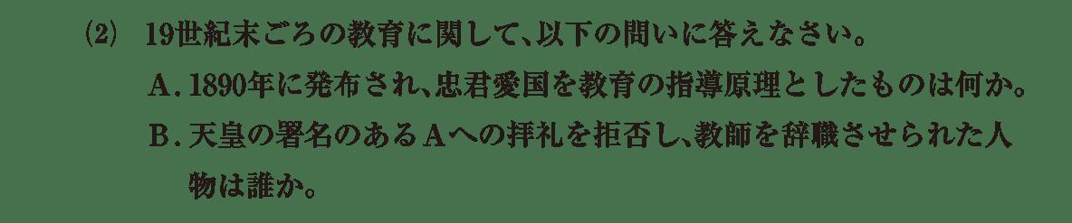 近現代の文化9 問題2(2) 問題