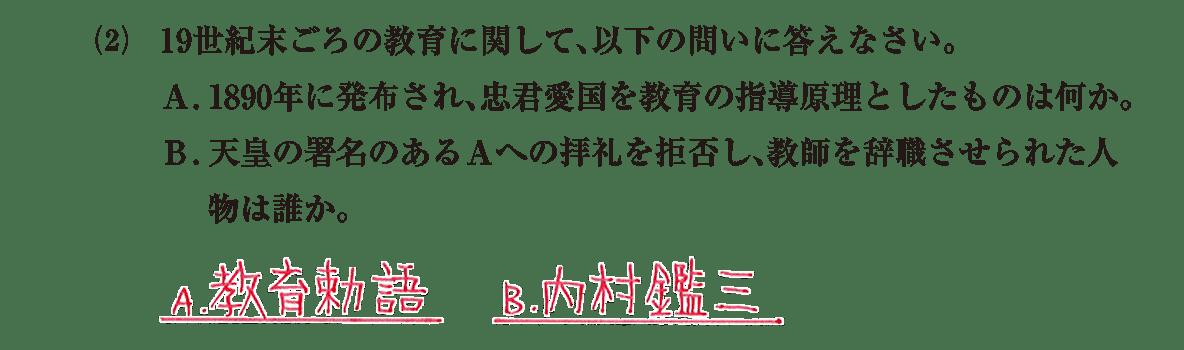 近現代の文化9 問題2(2) 解答