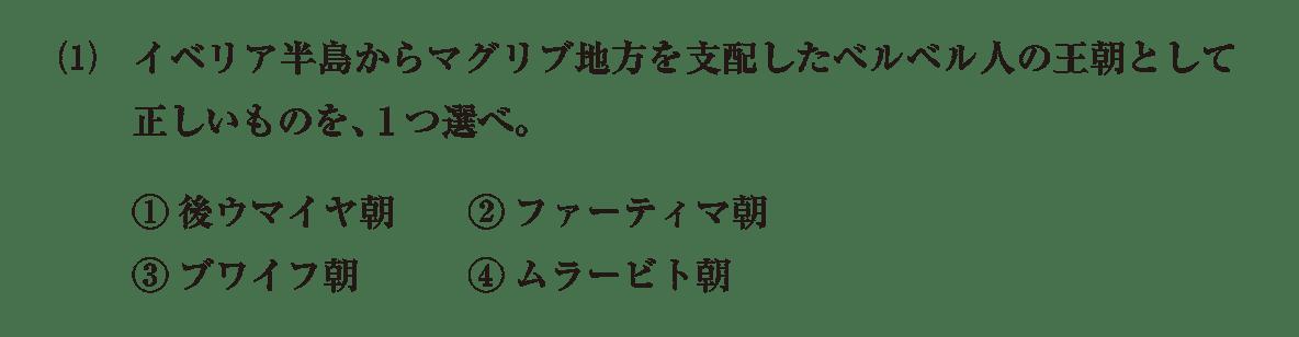 高校世界史 イスラーム世界8 問題2(1)