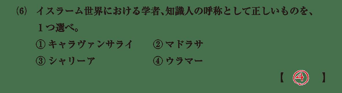 高校世界史 イスラーム世界8 問題2(6)答え入り