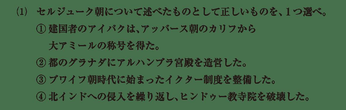 高校世界史 イスラーム世界8 問題3(1)